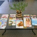 Dr. Loper Office - Table full of magazines